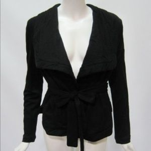 BcbgMaxazria oversized collar quilted wrap jacket